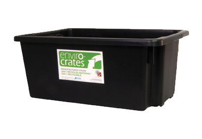 Plastic Crate 52L   Stack and Nest Enviro Crate