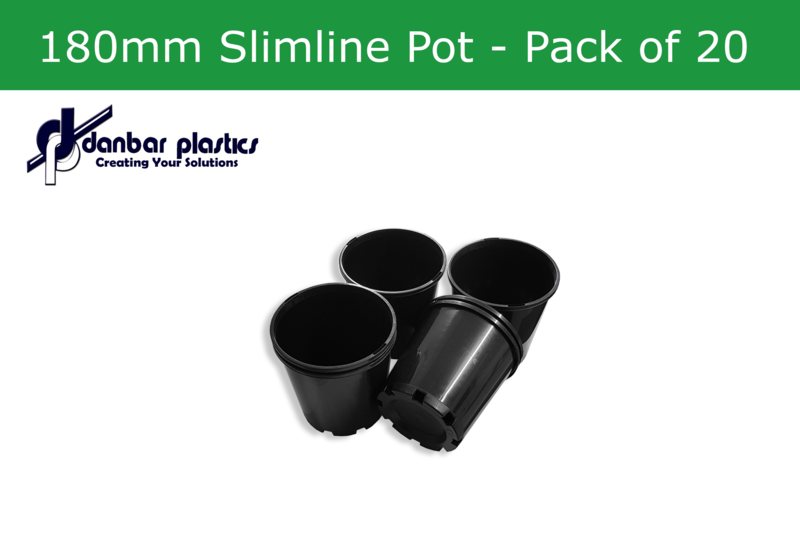 Plastic Pots 180mm Slimline   Pack of 20