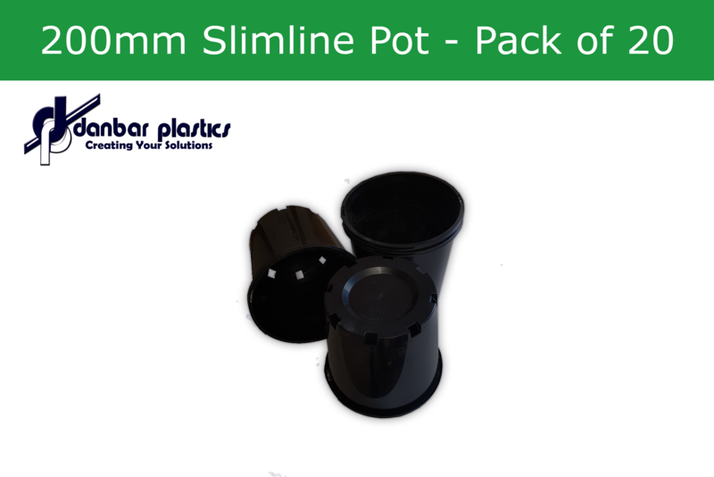 Plastic Pots 200mm Slimline   Pack of 20