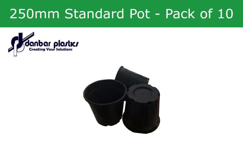 Plastic Pots 250mm Standard   Pack of 10