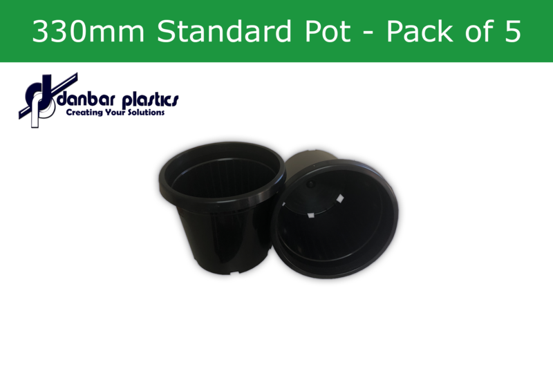 Plastic Pots 330mm Standard  Pack of 5