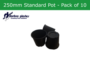 Plastic Pots 250mm Standard - Pack of 10
