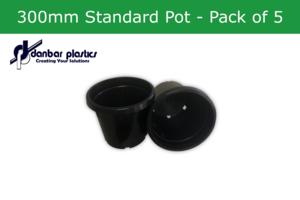 Plastic Pots 300mm Standard - Pack of 5