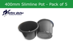 Plastic Pots 400mm Slimline - Pack of 5