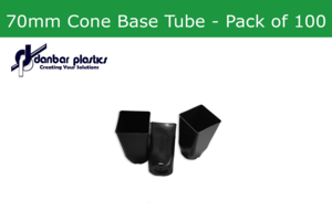 Plastic Pots   70mm Cone Base Tube   Pack of 100