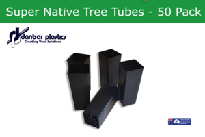 Plastic Pots - Super Native Tree Tubes - Pack of 50